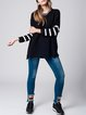 Black Long Sleeve Viscose H-line Ribbed Sweater