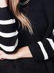 Black Long Sleeve Viscose H-line Ribbed Sweater