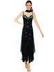 Black Solid A-line Tiered Elegant Maxi Dress