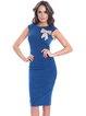 Sleeveless Solid Bow Elegant Midi Dress