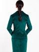 Dark Green Solid H-line Elegant Blazer