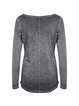 Deep Gray Plain Cotton H-line Casual Long Sleeved Top