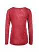 Red Casual Animal Print H-line Long Sleeved Top