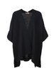 Black Solid H-line Knitted Batwing Cardigan