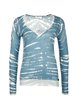 Aqua Casual Printed Cotton Abstract Long Sleeved Top