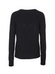 Black Casual V Neck Lace Up H-line Sweater