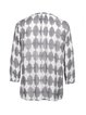 Printed Simple Viscose Geometric Long Sleeve Blouse