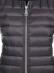 Black Nylon H-line Sewing Casual Duvet Vests