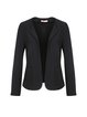 Solid Simple H-line Polyester Long Sleeve Cropped Jacket