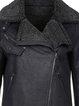 Solid Long Sleeve Lapel Zipper Casual Coat
