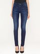 Blue H-line Casual Washed Straight Leg Pants