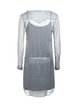 Light Gray Geometric Polyester Simple Mini Dress