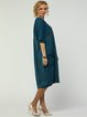 Batwing H-line Crew Neck Paneled Casual Midi Dress