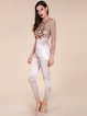 Rose Golden See-through Look Geometric Sexy Jumpsuit