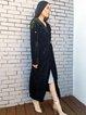 Velvet Elegant Embellished Long Sleeve Solid Coat