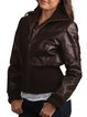 Brown Casual H-line Leather Jacket