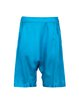Blue Casual Satin Solid H-line Shorts
