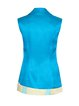 Blue H-line Satin Printed Elegant Vests