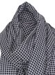Black Casual Checkered/Plaid Polyester Scarf
