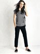 Black Simple Solid Polyester Straight Leg Pants