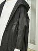 Long Sleeve Paneled Casual Shift Solid Trench Coat