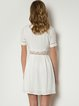 Lace A-line Short Sleeve Girly Paneled Mini Dress