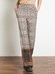 Brown Boho Woven Tribal Printed Wide Leg Pants