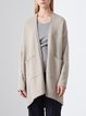 Casual High Low Long Sleeve Solid Cardigan