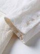 White Crew Neck Wool Blend Asymmetric Casual Top