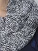 Gray Casual Knitted Melange Scarf