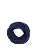 Navy Blue Casual Plain Knitted Scarf