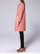 Coral Solid H-line Casual Coat