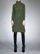 H-line Casual Long Sleeve Slit Sweater Dress