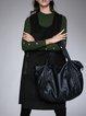 Casual Letter Sleeveless Asymmetrical Wool Blend Midi Dress