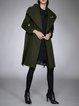 Shawl Collar Long Sleeve Casual Wool Blend Solid Coat