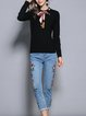 Black Long Sleeve Floral Top With Pants