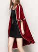 Wool-blended Casual Batwing Jacquard Cocoon Knitted Cardigan