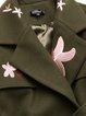 Plus Size Elegant Long Sleeve A-line Floral Coat