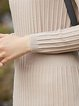 Chalky Yellow Casual Ribbed Sweater