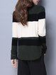 Casual Asymmetric High Low Long Sleeve Stand Collar Sweater