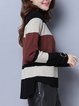 Casual Asymmetric Long Sleeve Stand Collar Sweater