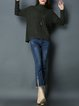 Army Green Long Sleeve Plain Knitted Sweater