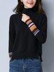 Black Long Sleeve Slit Knitted Sweater