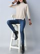 Casual Knitted Asymmetric Long Sleeve Sweater