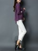 Asymmetric Casual Crew Neck Long Sleeve Sweater