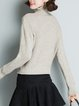 Turtleneck Knitted Long Sleeve Solid Casual Sweater