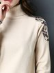 Knitted Casual Embroidered Long Sleeve Sweater