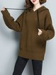 Plus Size Casual Long Sleeve Hoodie Sweater