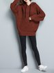 Knitted Solid Hoodie Long Sleeve Casual Sweater