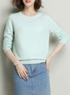 Long Sleeve Solid Basic Sweater